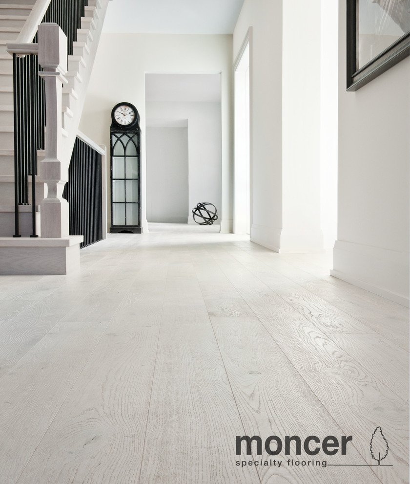 European white oak polar natural oil contemporary for Hardwood flooring toronto