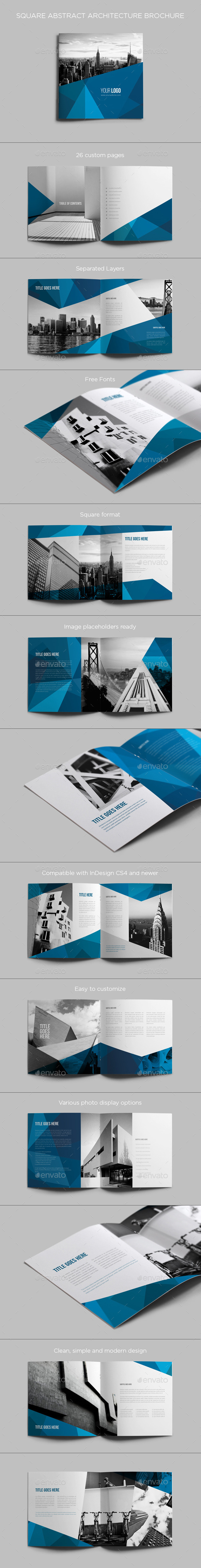 Square Abstract Architecture Brochure | GraphicRiver