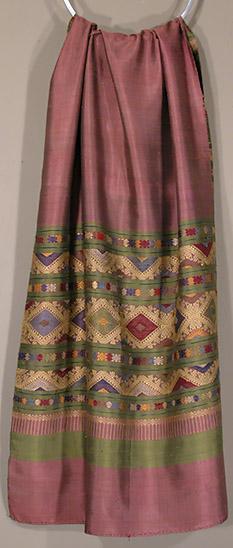 B-4676. Laotian Silk Brocade Shawl
