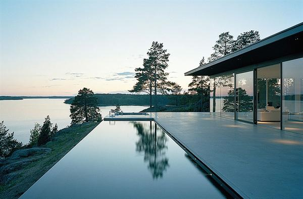 Modernist Swedish Architecture over Sea and Sun | Modern House ...