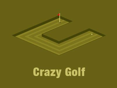 Crazy Golf Logo by Carl Goldson