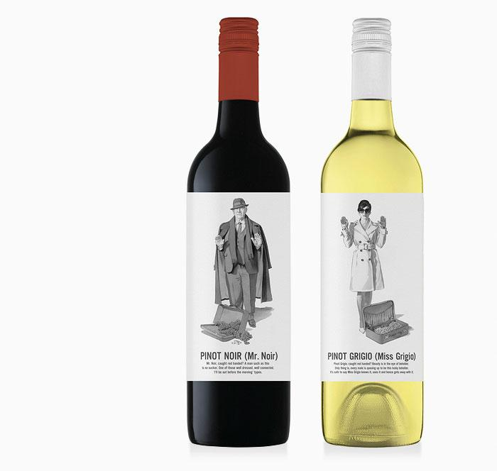 Miss Grigio and Mr.Noir - The Dieline: The World's #1 Package Design Website -