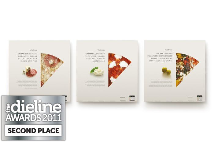 The Dieline Awards 2011: Second Place - Waitrose Regional Pizzas - The Dieline: The World's #1 Package Design Website -