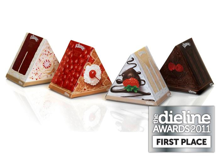 The Dieline Awards 2011: First Place - Kleenex Dessert Wedges - The Dieline: The World's #1 Package Design Website -