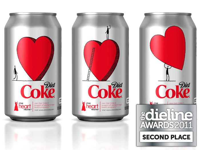 The Dieline Awards 2011: Second Place - Diet Coke The Heart Truth Promotional Packaging 2010 - The Dieline: The World's #1 Package Design Website -