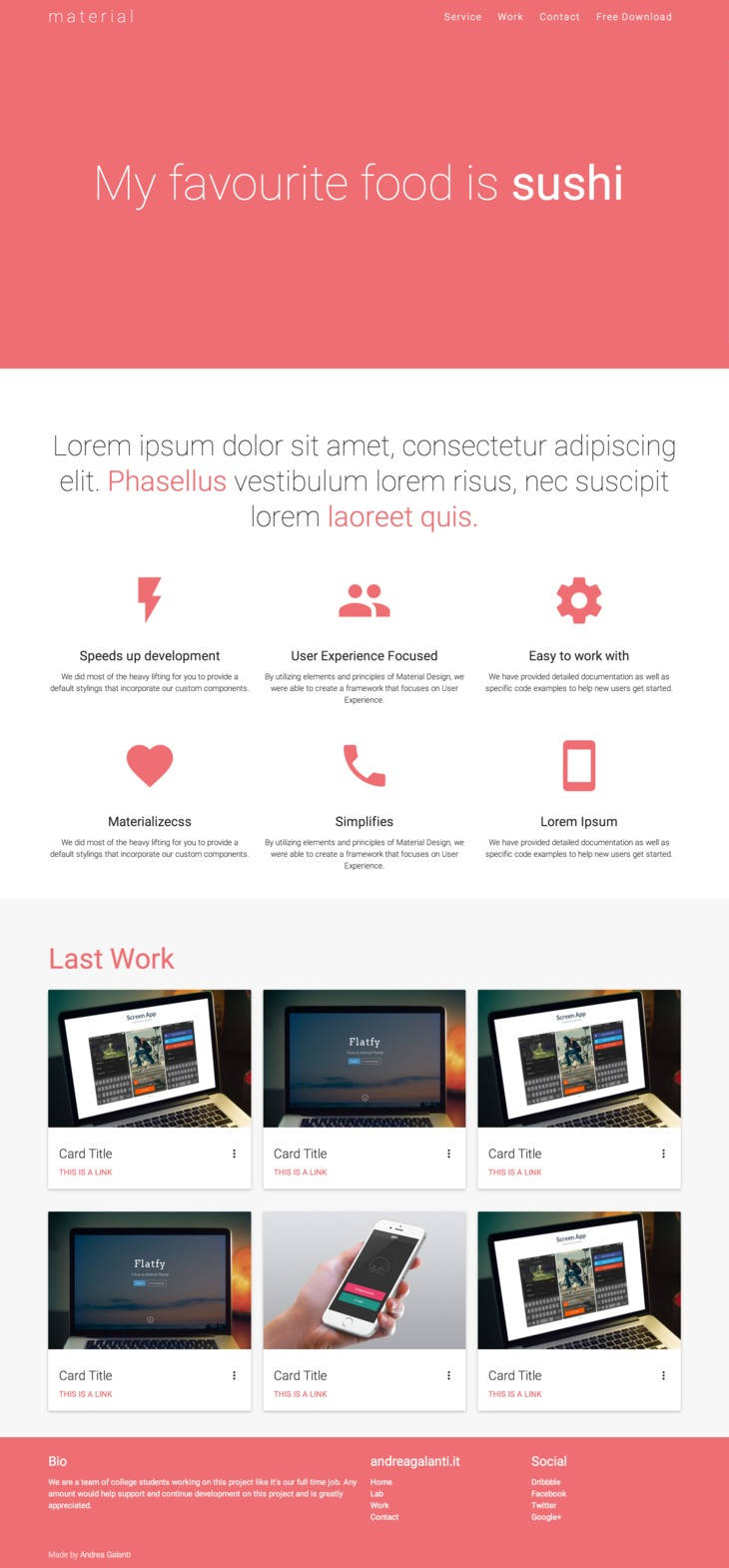 Material HTML Base Theme - graphberry.com