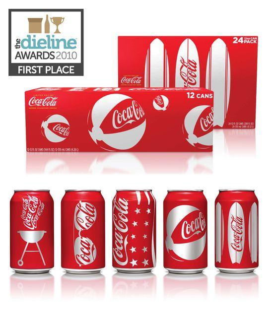 The Dieline Awards: First Place - Beverage - Coca-Cola Summer Identity - The Dieline: The World's #1 Package Design Website -