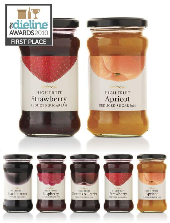 The Dieline Awards: First Place - Food B - Waitrose High Fruit Jams - The Dieline: The World's #1 Package Design Website -