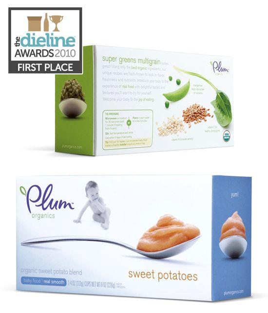 The Dieline Awards: First Place - Food A - Plum Organics - The Dieline: The World's #1 Package Design Website -