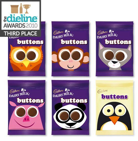 The Dieline Awards: Third Place - Food C - Cadbury Buttons - The Dieline: The World's #1 Package Design Website -