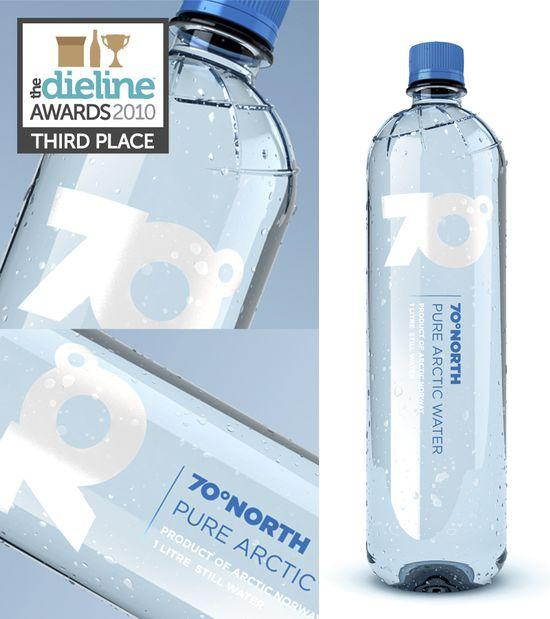The Dieline Awards: Third Place - Beverage - 70N Pure ArcticWater - The Dieline: The World's #1 Package Design Website -