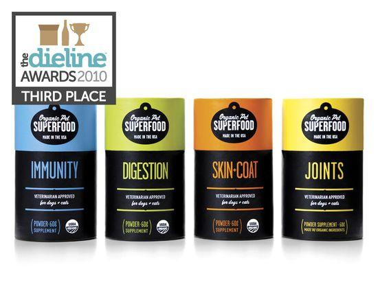 The Dieline Awards: Third Place - Home, Garden, Pets - Organic Pet Superfood - The Dieline: The World's #1 Package Design Website -
