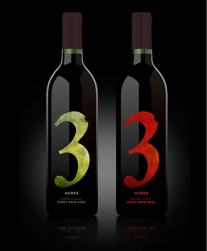 3 Acres Wine - The Dieline: The World's #1 Package Design Website -