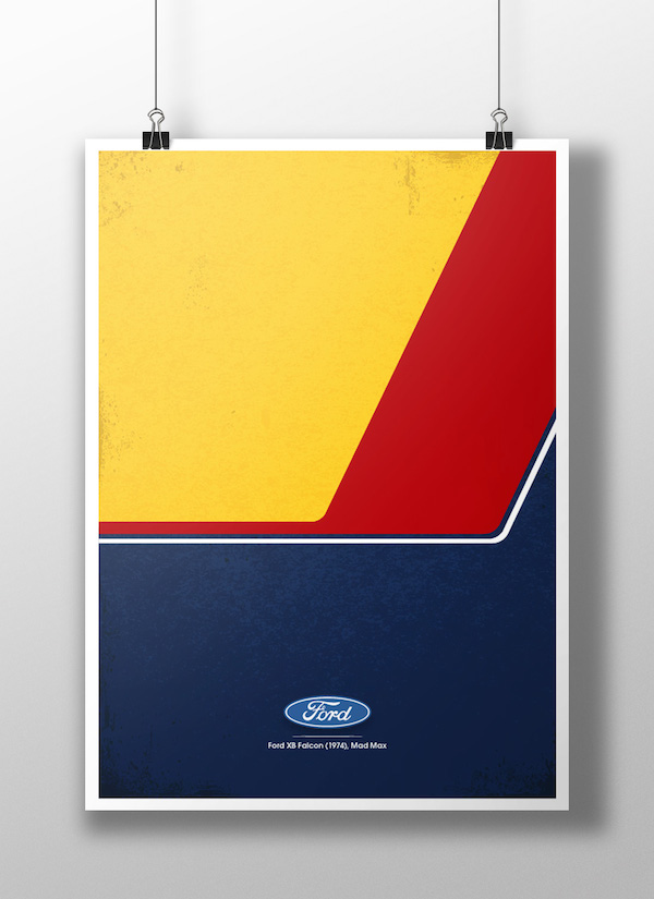 Movies and TV Show Vehicles in Minimalist Posters – Fubiz™