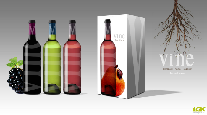 vine | dessert wine packaging + branding by Lena Karalnik at Coroflot