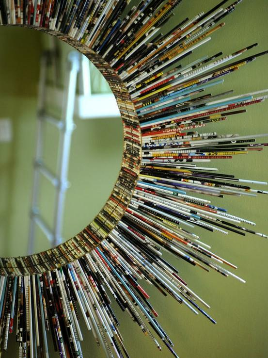 Creative use of paper / Recycled paper mirror