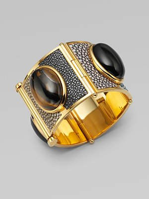 Fendi - Brass Cuff With Stones - Saks.com