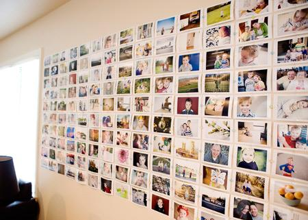 DIY: Cheap and Easy Photo Wall | the creative mama