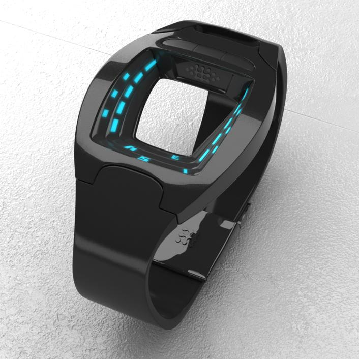 SF View - A Minimalist Sci-Fi LED Watch Design   Tokyoflash