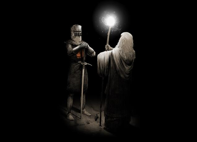 Gandalf vs The Black Knight : trfling