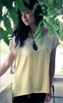 Suzabelle Velos Shirt - Cream/Yellow | RGB shop+gallery
