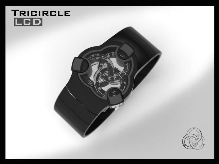 Tricircle LCD watch (update) | Tokyoflash