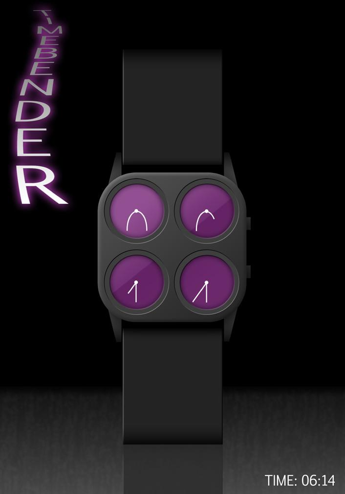 Timebender LCD watch reveals partial digits. | Tokyoflash