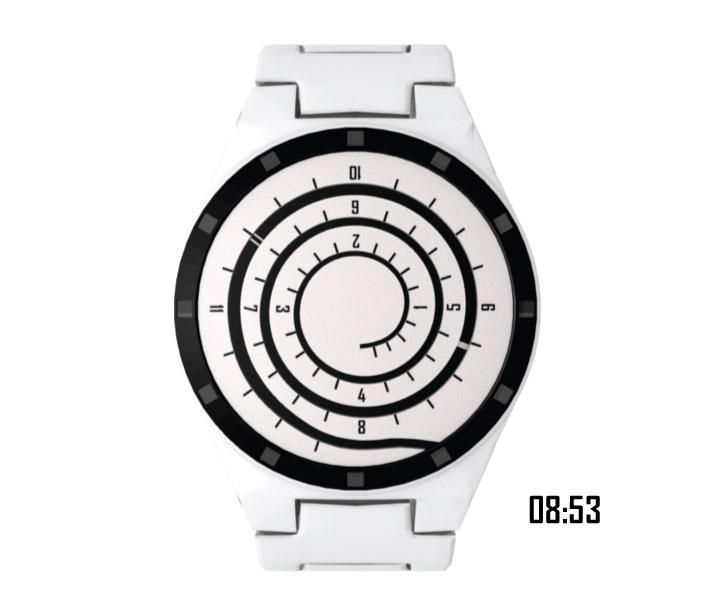 Spiral analogue watch design | Tokyoflash