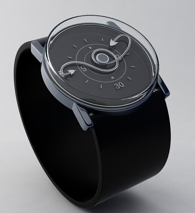 Twisted time analog watch design   Tokyoflash