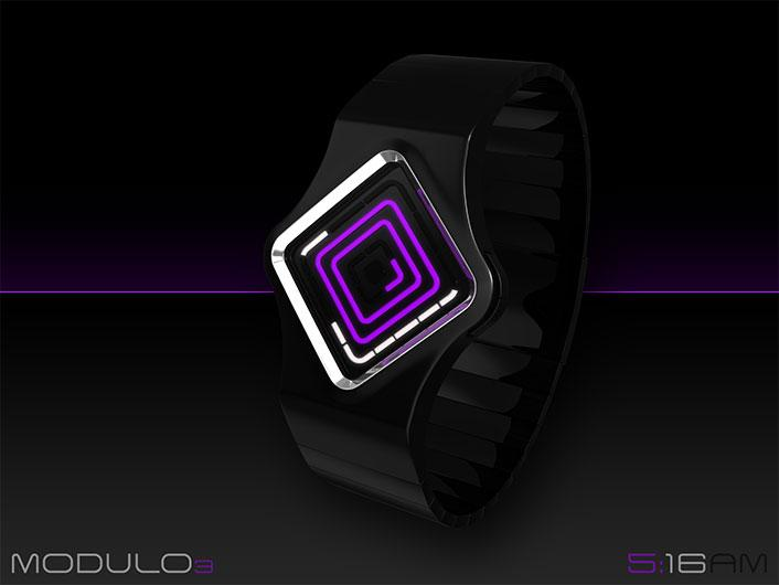 MODULO 3 LED watch looks complex, has simple solution. | Tokyoflash