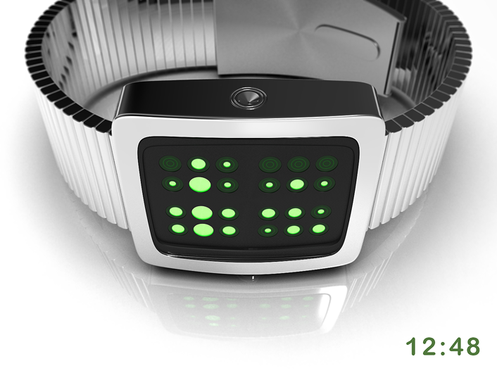 Digital Density watch reveals stylish, abstract numbers | Tokyoflash