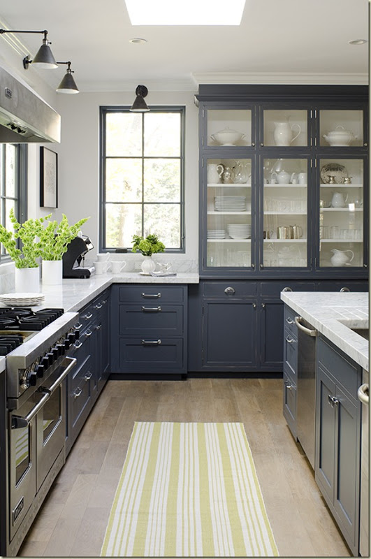 A Splash Of Fresh Colour Over a Timeless Grey Kitchen