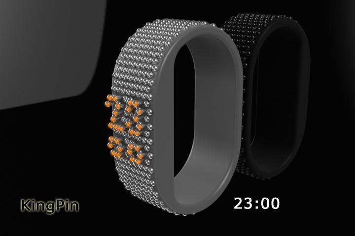 Time in 3D Pins Watch Design | Tokyoflash