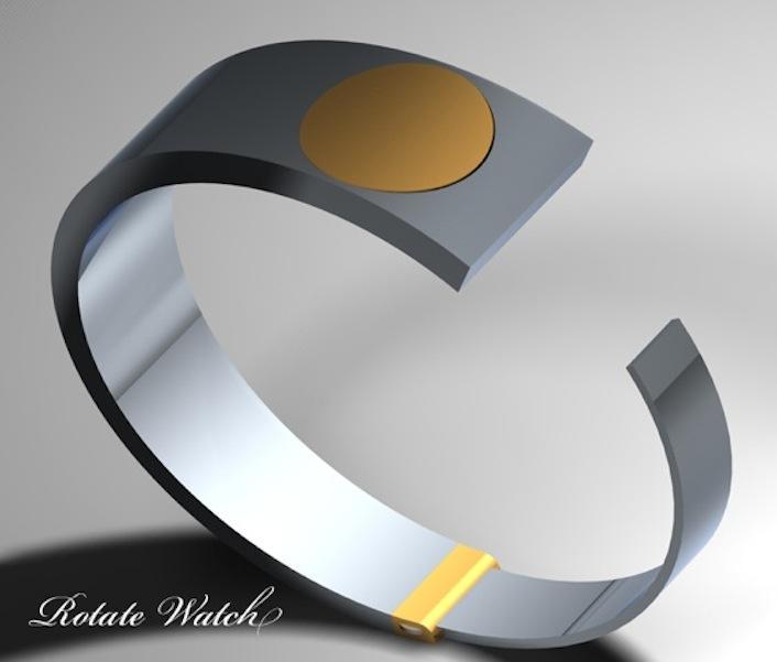 Watch Design - Hidden Time In A Bracelet   Tokyoflash