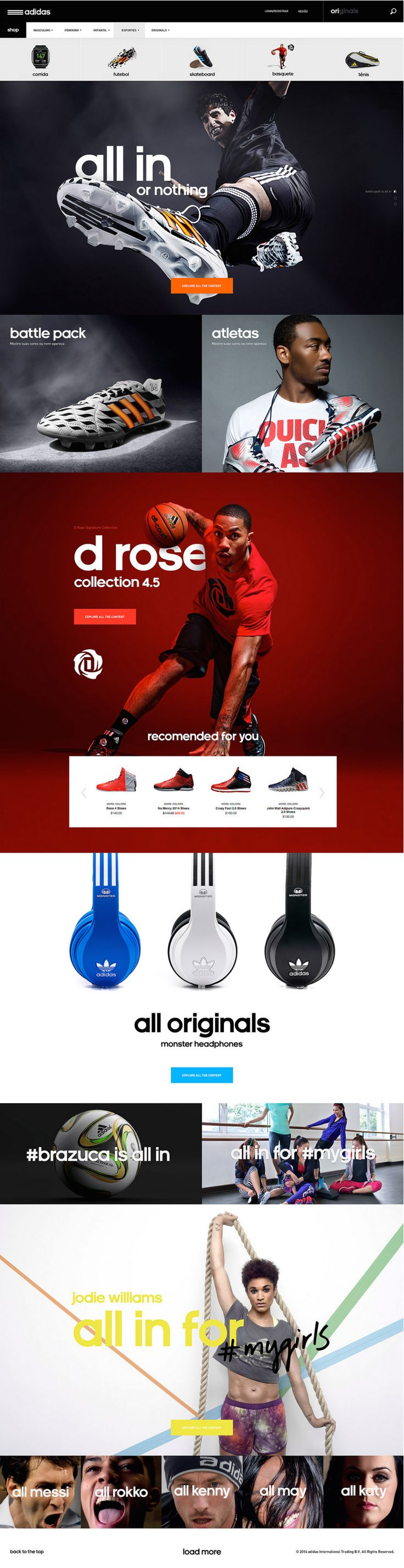Adidas #webdesign #website #inspiration #layout| Web design | Pinterest