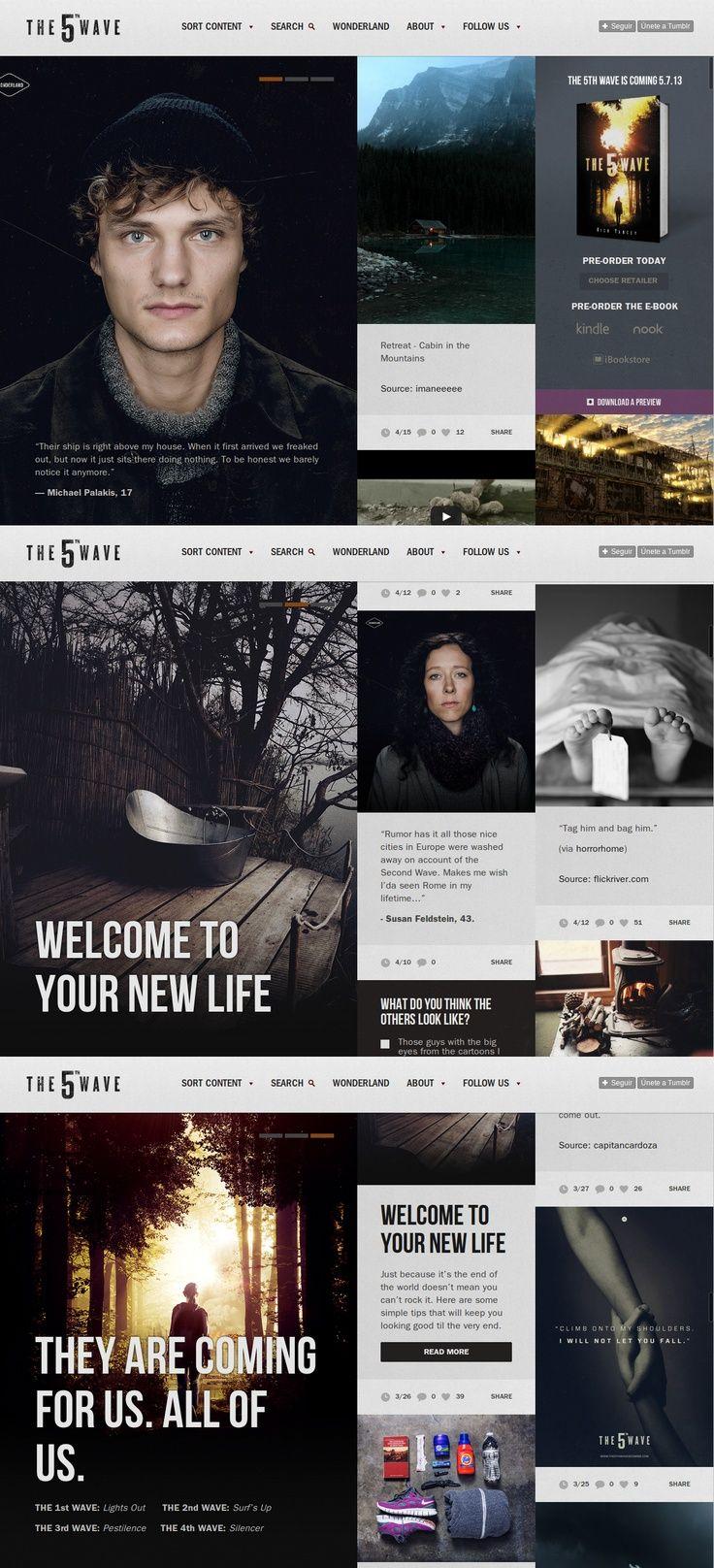 The 5th Wave  Web / UI Design   Pinterest