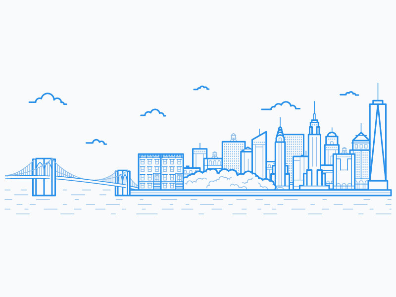 New York City Skyline by Laura Beggs