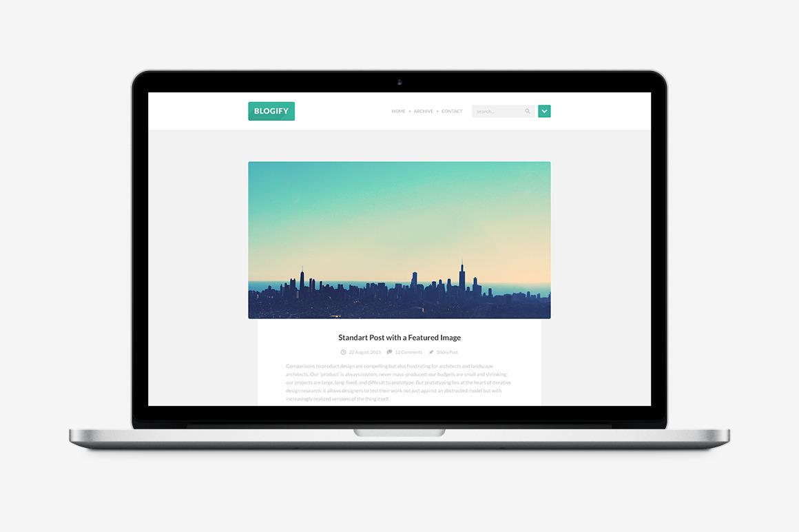 Blogify HTML Template ~ Website Templates on Creative Market