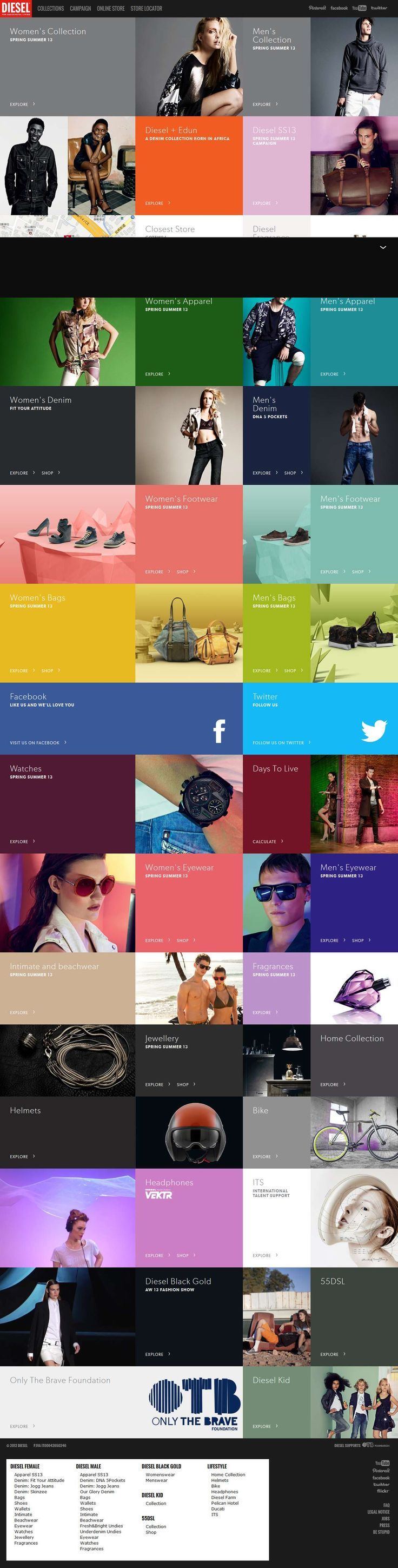 We've been addicted to grid layouts. It's nice to find good inspiration. These types of layouts are good for products, portfolios, and services. | Pinterest