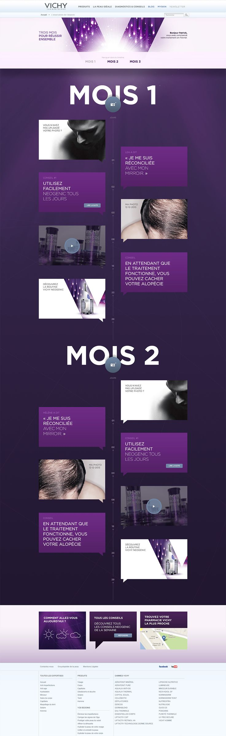 Unique Web Design, Vichy Laboratoires via @projim0524 #WebDesign #Design  Webdesign présentations   Pinterest