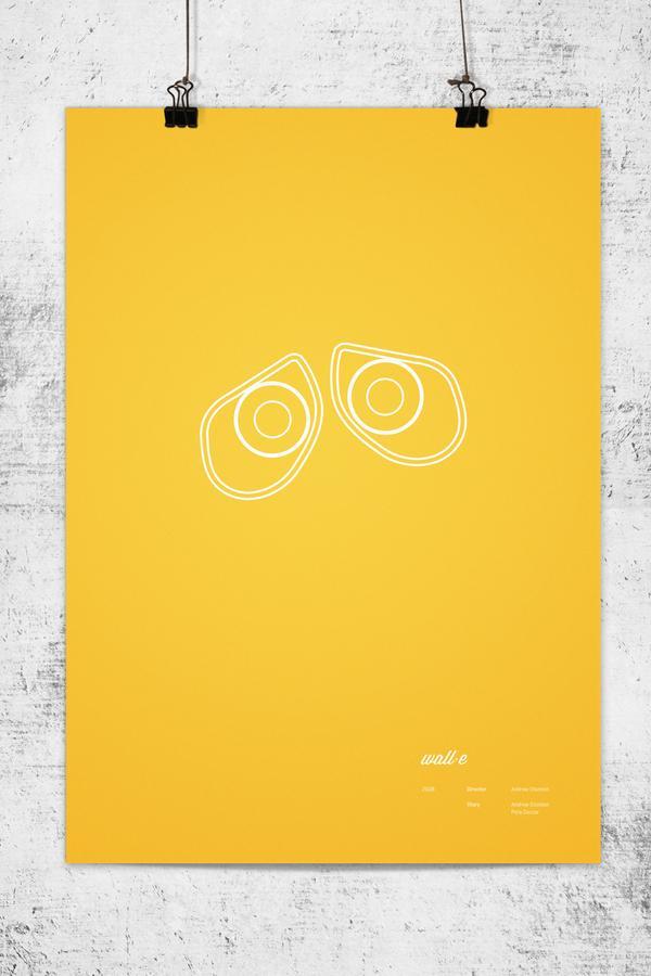 Minimalist Pixar Movie Posters : trfling