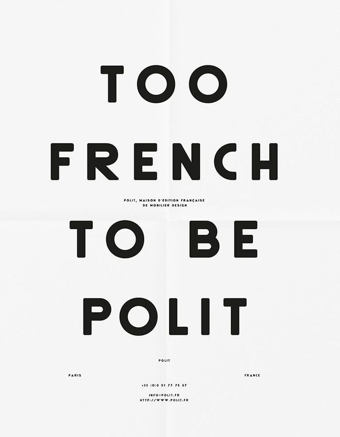 Too French To Be Polit Poster in Poster