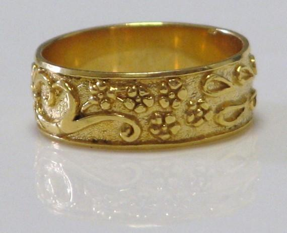 Engagement and Wedding Unique Design ring 24 k Gold by nuritdesign