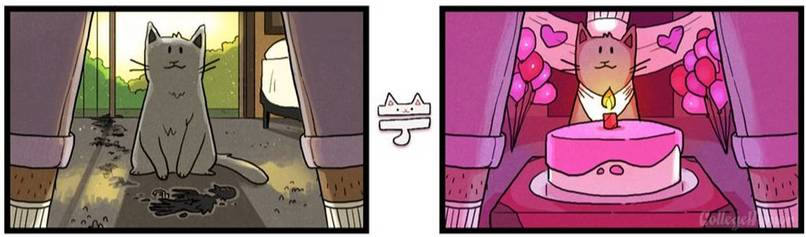 6 Illustrations Of A Cat's Perspective Anyone With A Cat Will Absolutely Relate To - Dose - Your Daily Dose of Amazing