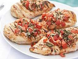 Grilled Chicken Brushetta
