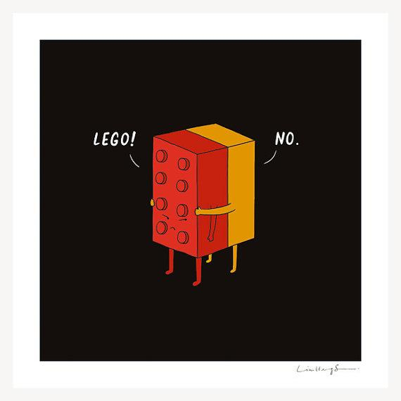 I Will Never Lego print by ilovedoodle on Etsy