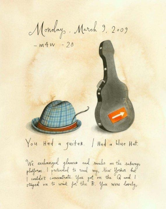 You Had a Guitar by SophieBlackall on Etsy