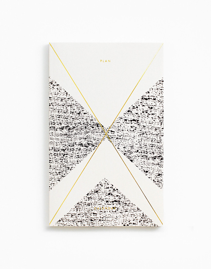 Gold Foil Any Year Daily Planner Crème in Silence. Sound. Echo