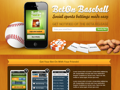BetOn Baseball Site by ROI DNA