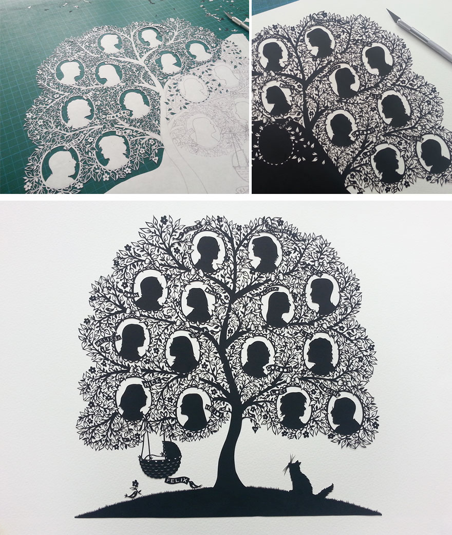 Artist Hand-Cuts Insanely Intricate Paper Art From Single Sheets Of Paper | Bored Panda